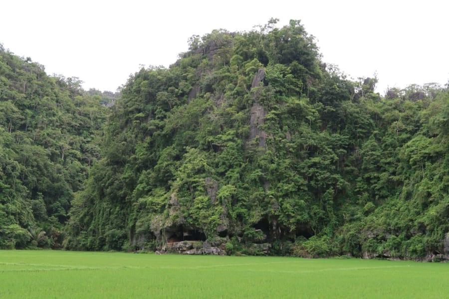 洞窟の外観
