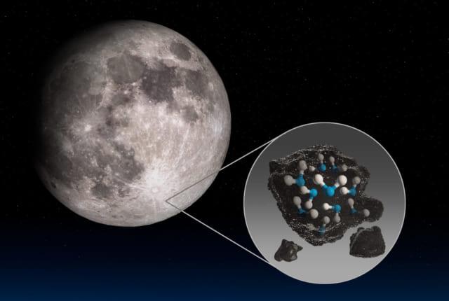 月表面には意外と多くの水が存在している。