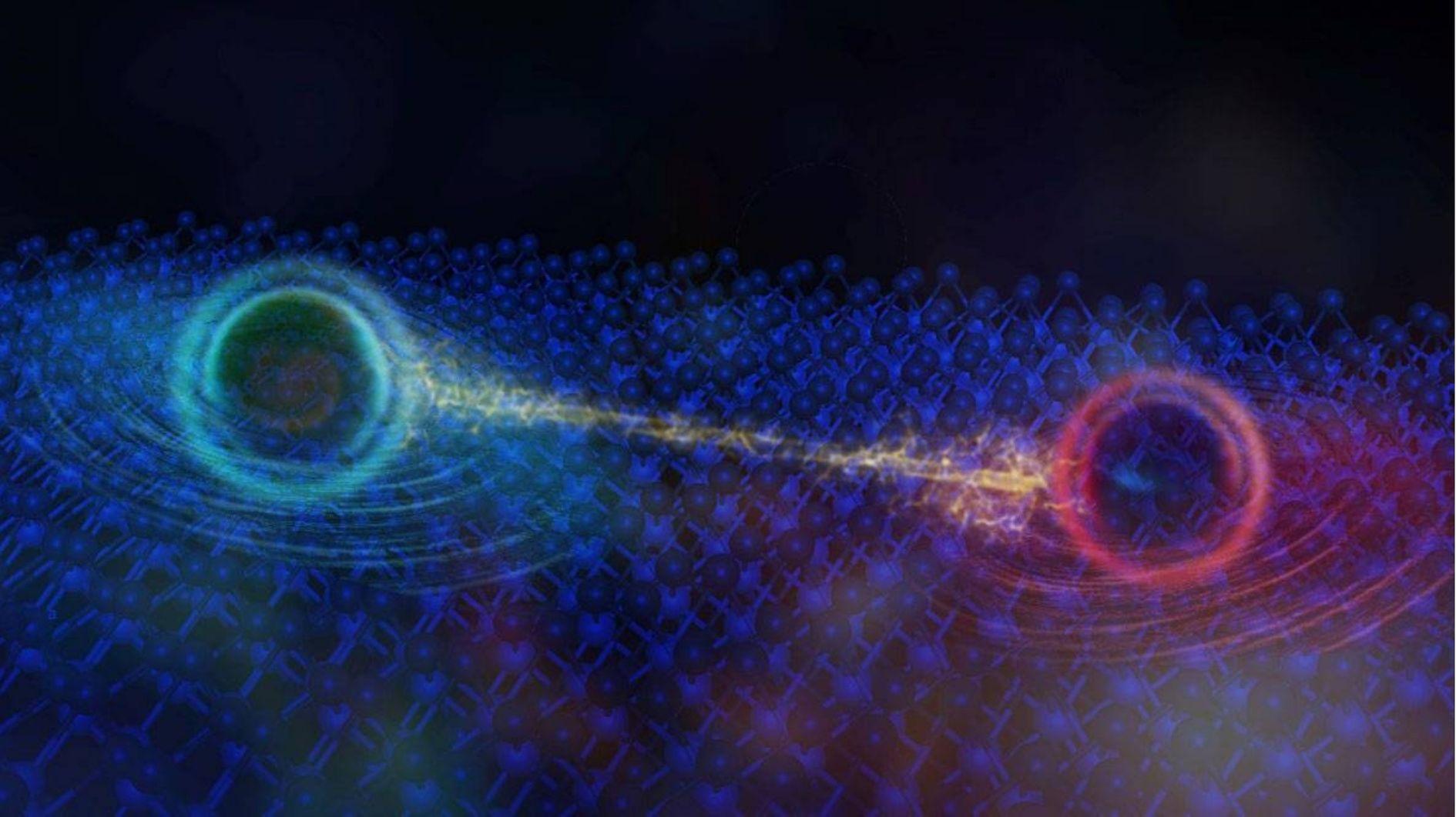 絶縁体の内部では準粒子が電子を運んでいる