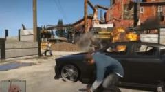 銃撃戦をするGTAVのゲーム画面。ちなみにアメリカでもGTAの未成年のプレイは禁止されています。