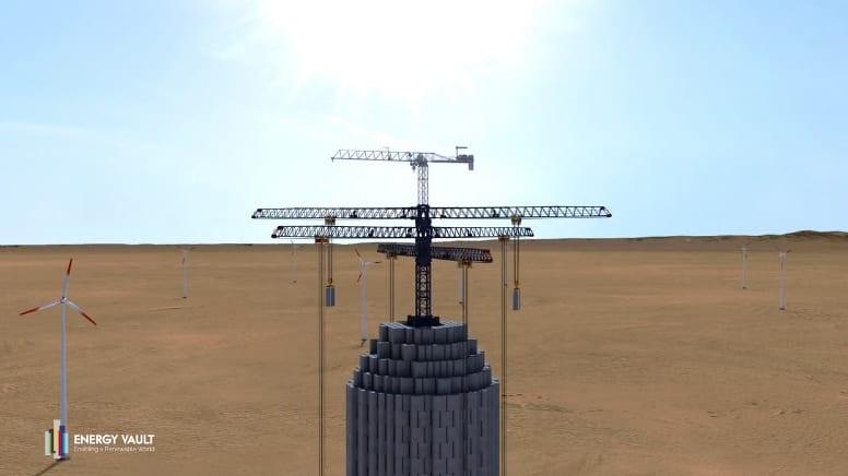 重力でエネルギーを蓄える未来の装置