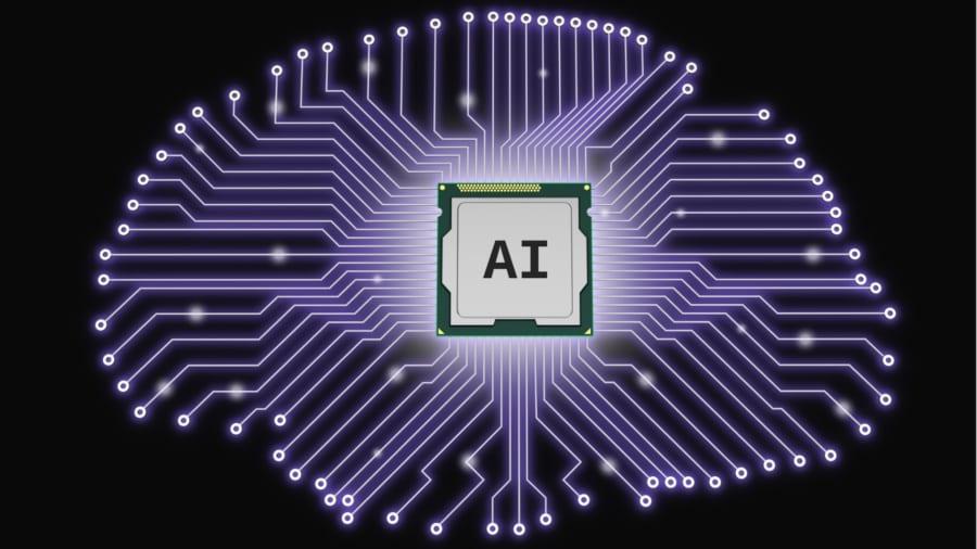 脳に埋め込まれた制御チップを用いた神経回路の支配。制御チップにAIが組み込まれればさらに効率的になる