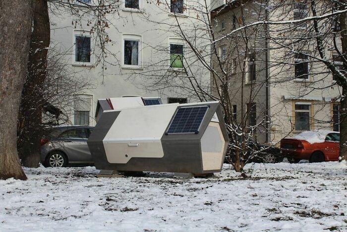 ドイツのホームレスたちを凍死から保護する
