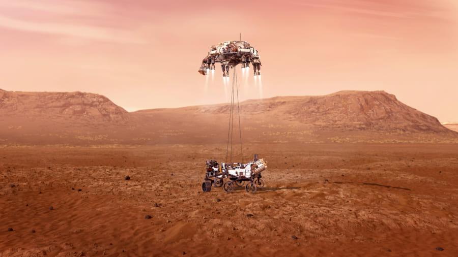 火星探査機「パーサヴィアランス」の着陸動画と「火星の音」をNASAが公開!