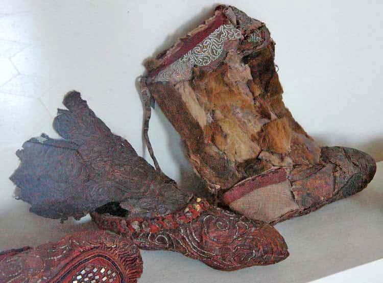 発見されたブーツ