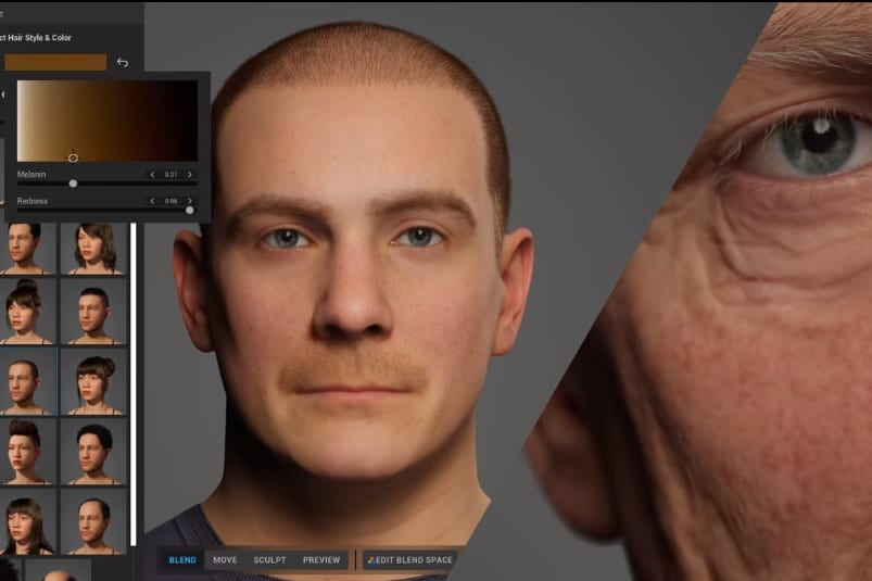 まるでキャラメイク… たった1時間で超リアルなデジタル人間を作り出せるツールが登場