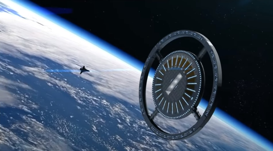 研究施設としても、観光用の宇宙ホテルとしても機能するボイジャーステーションのイメージ。
