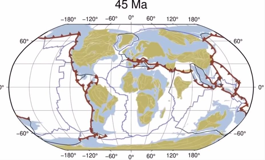 新たな研究は10億年の大陸移動を40秒の動画にまとめた。