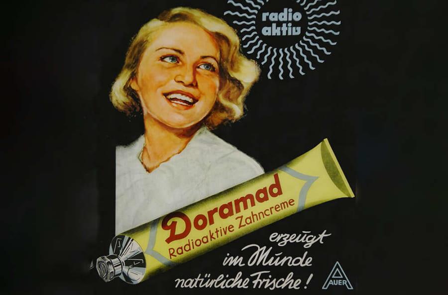 放射性物質を含む「歯磨き粉」の宣伝広告