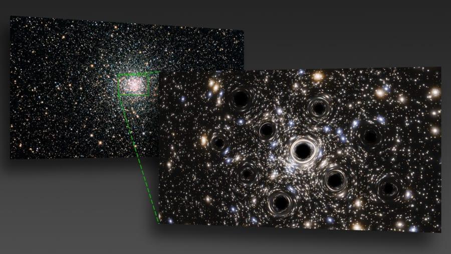 球状星団の中心は、恒星質量ブラックホールの集団だった