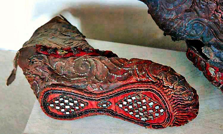 2300年前のスキタイ族のブーツ