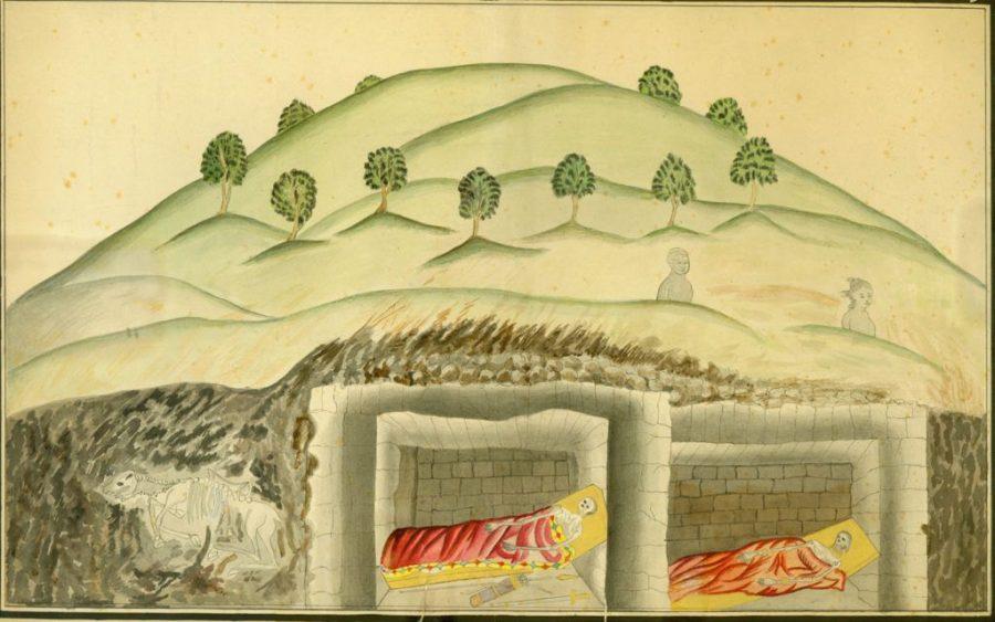 スキタイ人の「クルガン」(イメージ図)