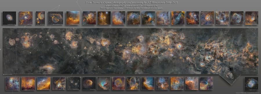 各領域の詳細な写真は、個別の作品としてサイト上で公開されている。