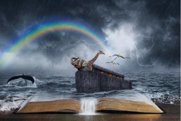 聖書の中で描かれるノアの方舟の物語。
