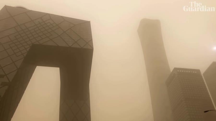 15日午前の北京上空