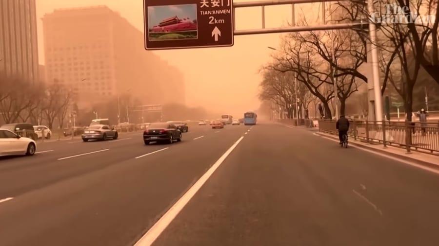 15日の北京の一般道