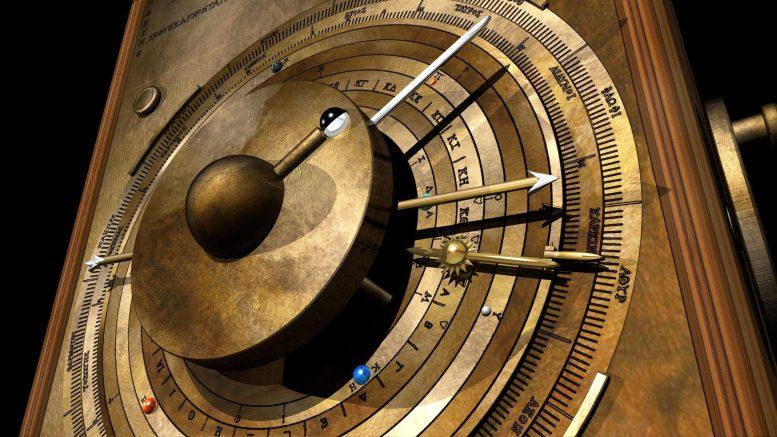 「アンティキティラ島の機械」、表板のイメージ