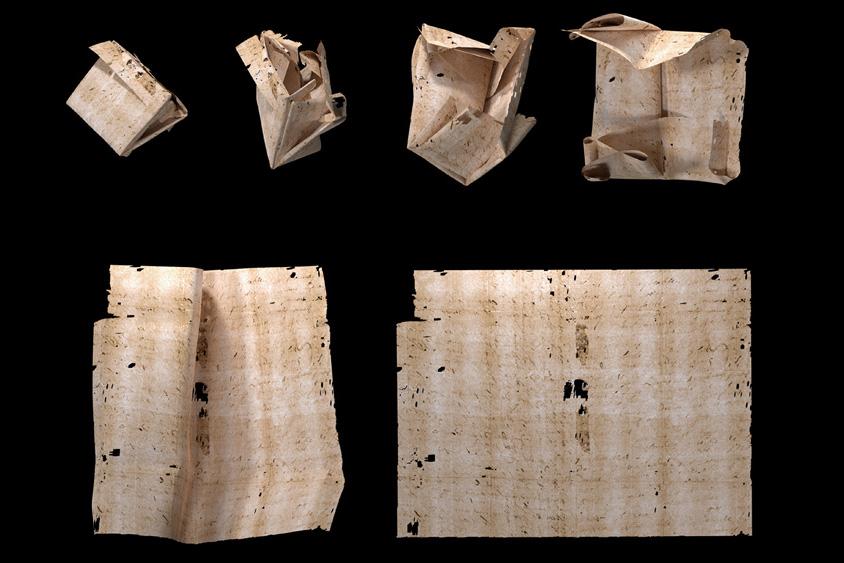 世界初、17世紀の手紙の「バーチャル開封」に成功!触れずに中身を読める