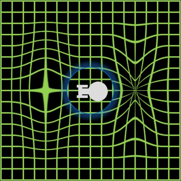 アルクビエレ・ドライブの直感的なイメージ。