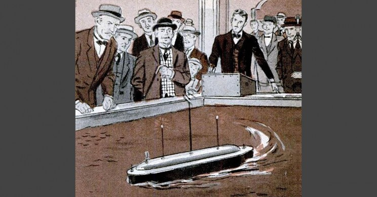 リモコン操縦できる小舟