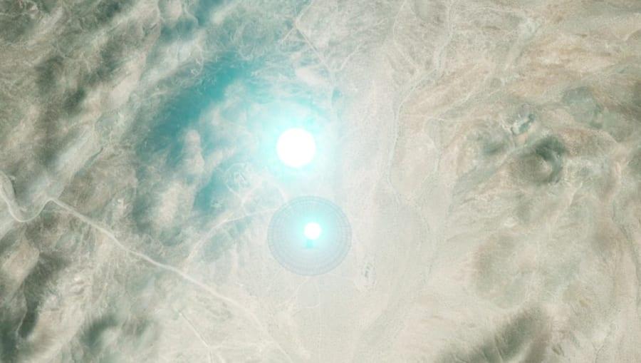 地球から発射される電波のイメージ