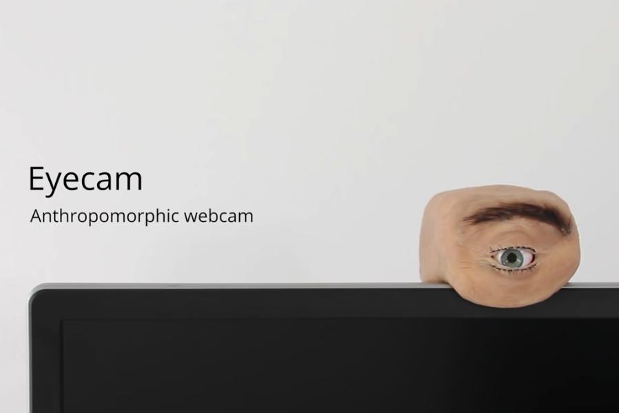 人の目ソックリのウェブカメラ「Eyecam」