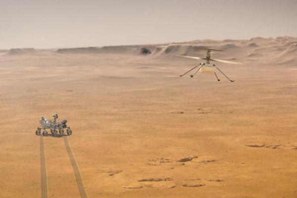 人類初「火星の空をヘリコプターで飛ぶ」ことに成功! 歴史的瞬間をとらえた映像も公開中