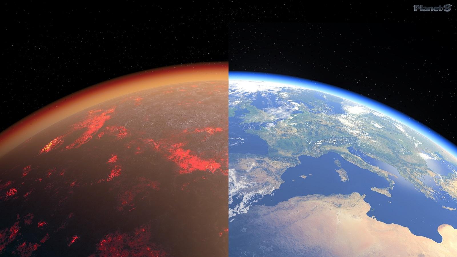 地球最初の大気は、金星と非常に類似していた