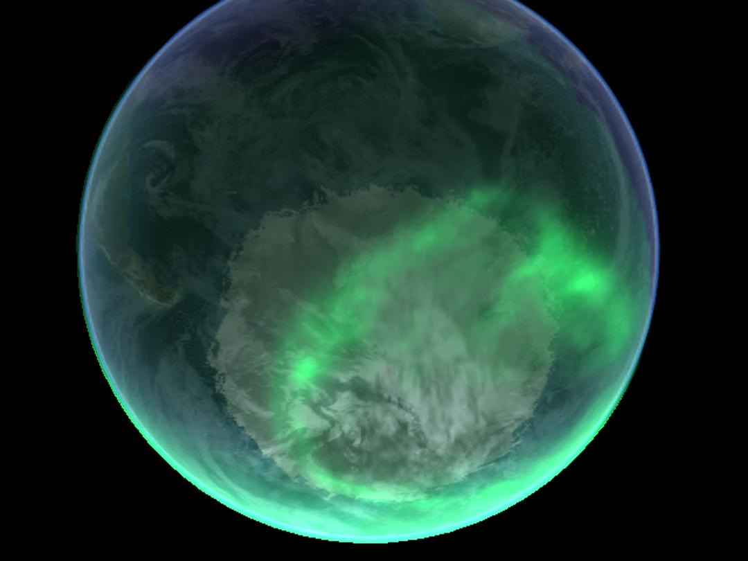 地球の外圏と呼ばれる高度500km以上はほとんどが水素とヘリウムになる。