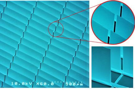 スマートガラスは目に見えないほど小さいマイクロミラーで構成される