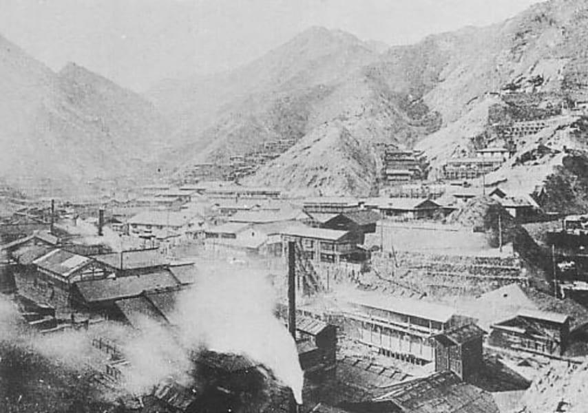 1895年頃の足尾鉱山