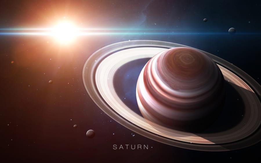 「土星の環は、まるで小さな太陽系」環の回転を再現したアニメーションが美しい