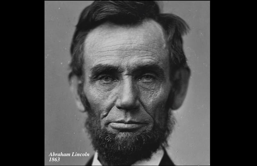 1863年に撮影されたリンカーン大統領