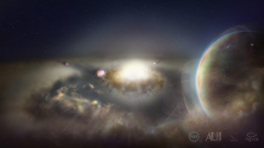 天の川の中心部で「新しい星の卵」が次々と産声をあげている