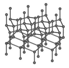 六方晶ダイヤモンドの結晶構造