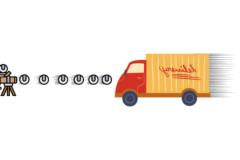 レーザー冷却はボールを連続でぶつけてトラックを止めるようなイメージの技術。