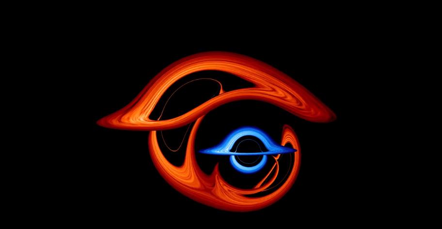 連星ブラックホールが重なったとき、光は複雑に歪曲する。