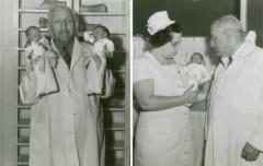 未熟児を抱くマーティン・クーニー氏
