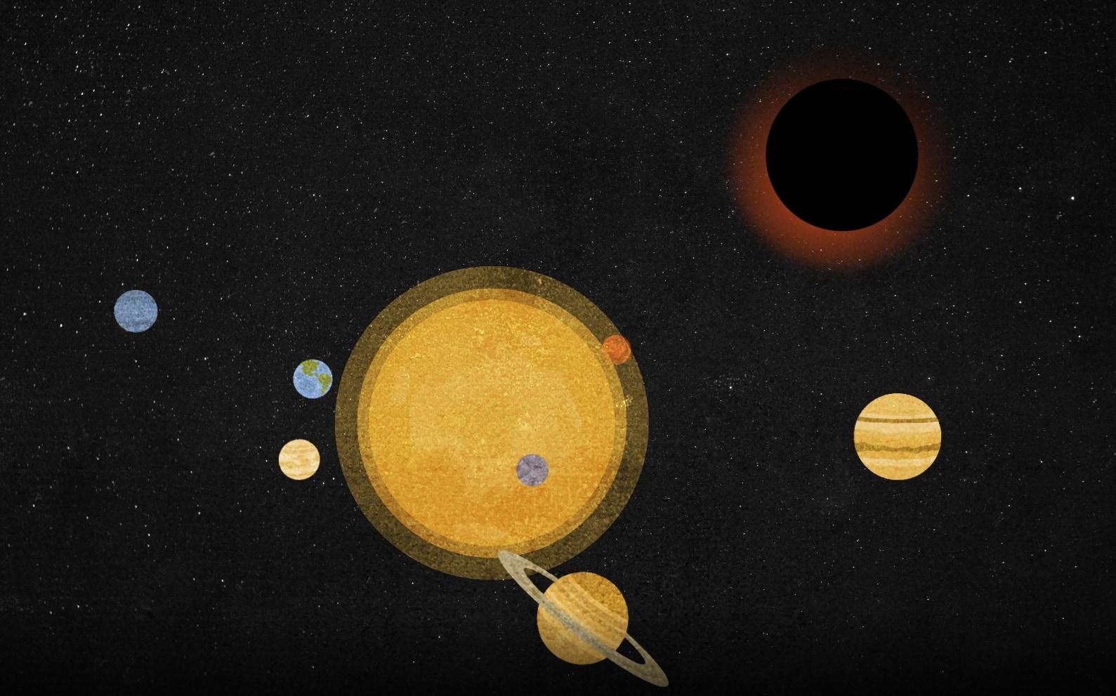 発見されたブラックホールは、記録上もっとも地球に近く、もっとも小さい。