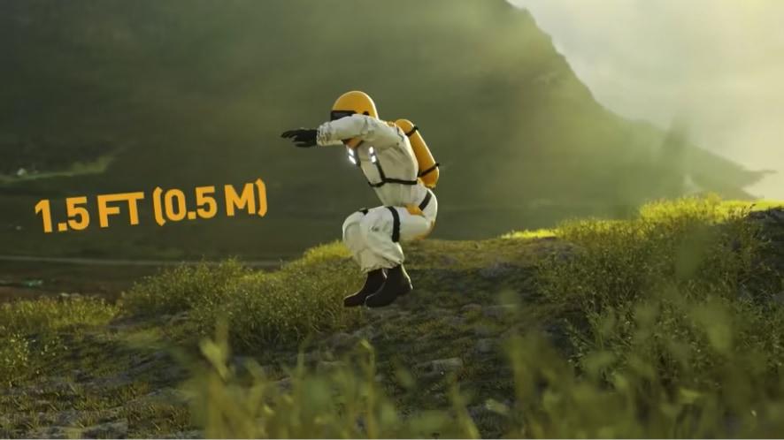 「ジャンプ力は惑星で変わる」ことを示したビデオがすごい