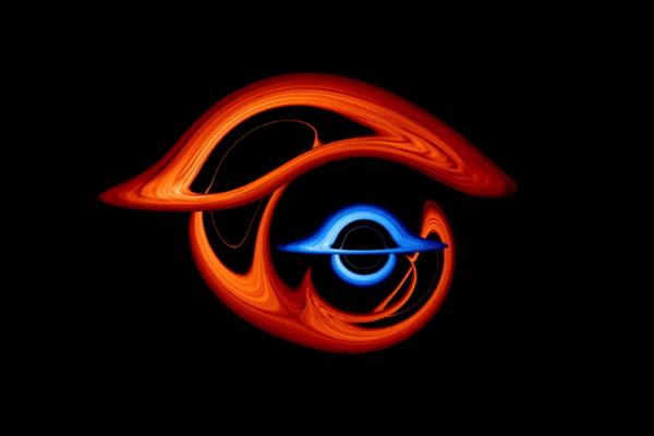 2つのブラックホールが重なったとき地球からどう見える? 複雑に光が歪んだ映像をNASAが公開