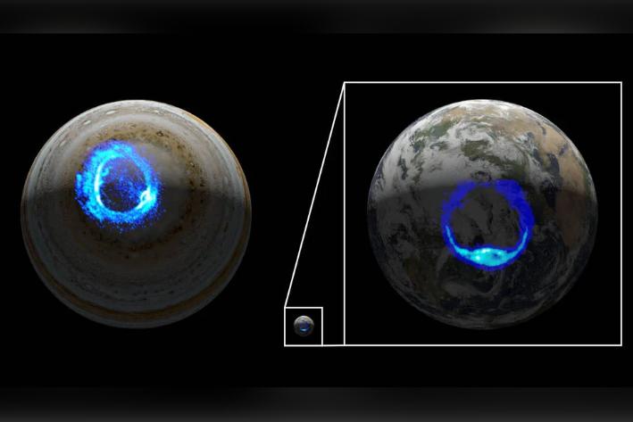 木星のオーロラに高速で拡がる「リング状の光」を初発見