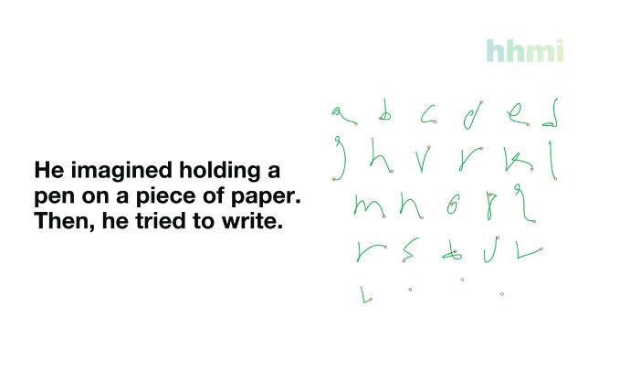 右のようにアルファベットがリアルタイムで解読される