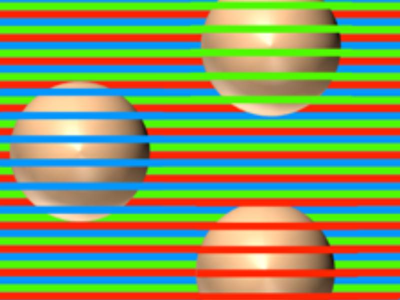 画像の一部を拡大したもの。ボールが同色であることが理解できるだろうか?