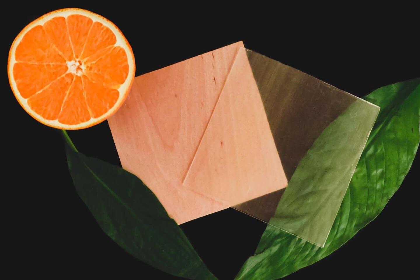 オレンジの皮で透明木材を補強する