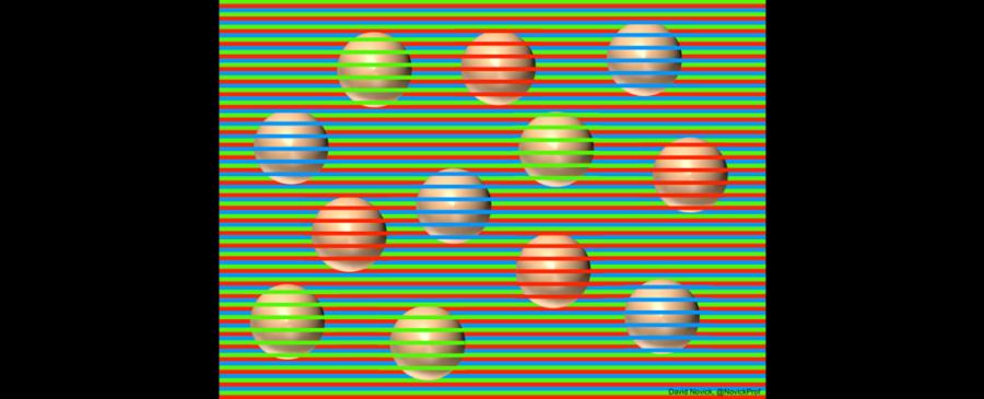 ボールは何色に見えますか? 実は全て同じ色です。