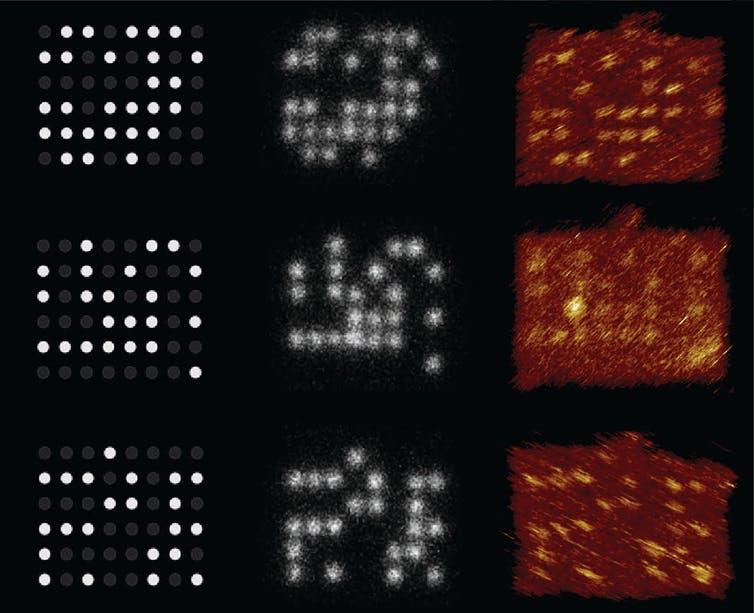 新しい研究はDNAでナノサイズのペグボードを作りデータを保存した