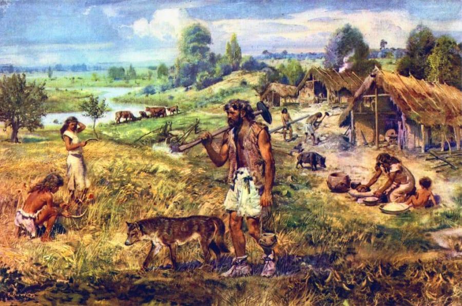 新石器時代のイメージイラスト