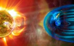 地球の磁場は太陽から来る有害な粒子を防いでいる