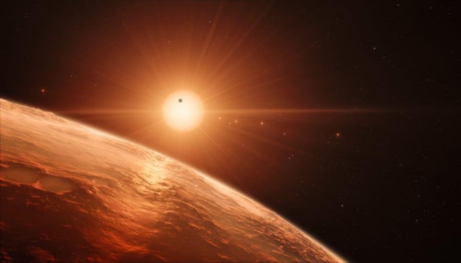 トラピスト1星系の想像図